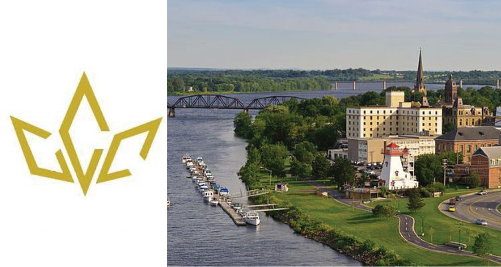 Canadain Chamber of Commerce logo and skyline of Fredericton.